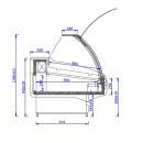 WCH LUX 1.3/1.2 S | Csemegepult teleszkópos frontüveggel