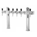 Coloană de bere cromat cu două coloane, 6 robineți și medalioane | Tower T6