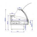 WCH LUX 1.3/1.2 D - Csemegepult teleszkópos frontüveggel