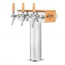 Coloană de bere cu 3 robineți și mâner din lemn | T Grand