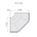 Vitrină frigorifică de colț exterior cu agregat extern | LCT Tucana 01 REM EXT90