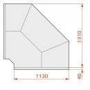 LCD DORADO EXT90 D SELF REM - Self-service external corner counter 90°