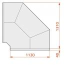 Vitrină frigorifică de colţ exterior pentru autoservire | LCD DORADO EXT90 D SELF