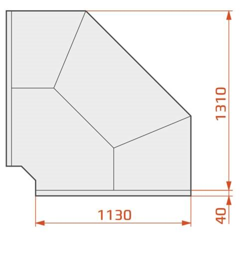 LCD DORADO EXT90 REM - External corner counter 90°