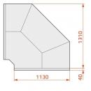Vitrină frigorifică de colț exterior 90° | LCD DORADO EXT90 REM