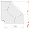 Vitrină frigorifică de colţ exterior 90° | LCD DORADO EXT90