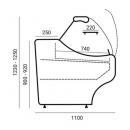 Hajlított üvegű csemegepult WCh-6/1B-1,0/1,1 WEGA (V)