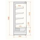 Refrigerated wall cabinet | RCS Scorpion 76.199 1,25