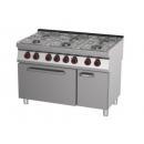 Mașină de gătit pe gaz cu 6 arzătoare și cuptor electric | SPBT 70/120 21 GE
