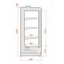 Freezer wall cabinet with 2 doors | SMI INDUS 04 2D [1,56]