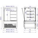 Vitrină frigorifică de cofetărie și patiserie   SONATA 0,9