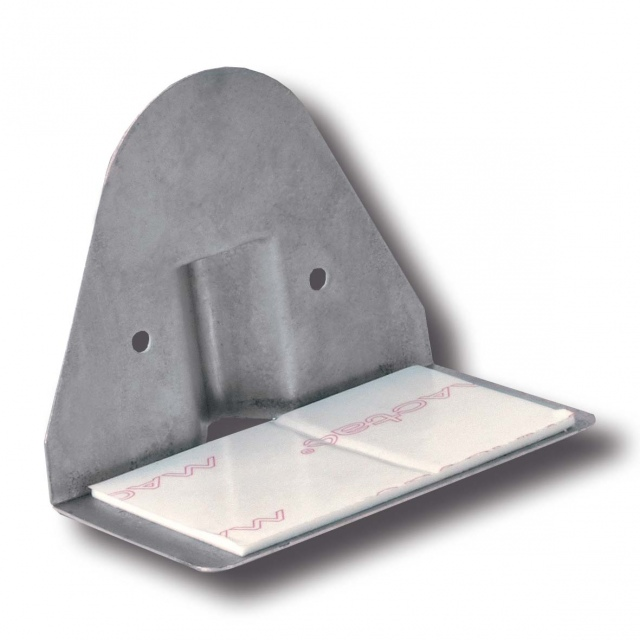 Selfadhesive duct support bracket, sheet metal