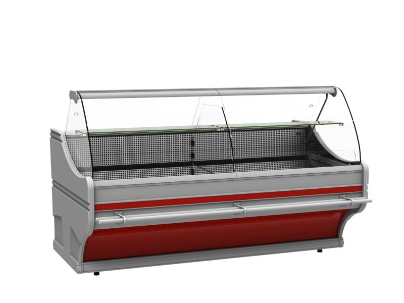 Counter with curved glass | WCh-6/1B-2,5/1,1 WEGA (V)
