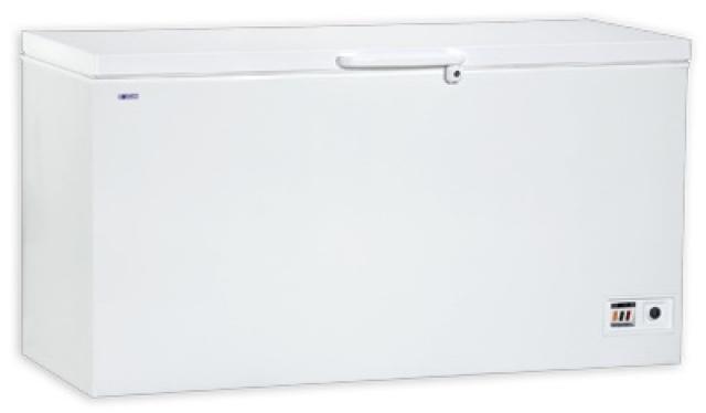 Chest freezer with solid top door   UDD 560 BK