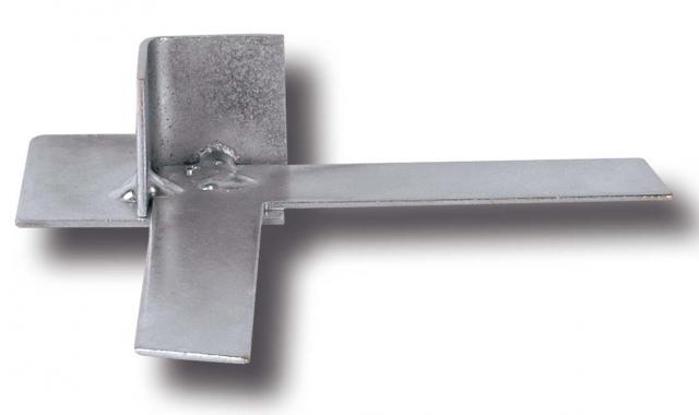 """Sarok elem """"F"""" profilhoz 20 mm, horganyzott acél"""