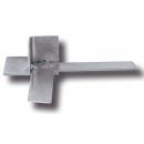 Colţar pentru Profil F, 20 mm, oţel zincat