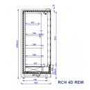 RCH 4D REM - 1.0 | Refrigerated wall cabinet