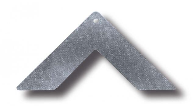 Sarok lap Rejtett csatlakozóhoz - acél 20 mm
