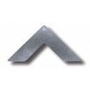 Sarok lap Rejtett csatlakozóhoz, 30 mm, horganyzott acél