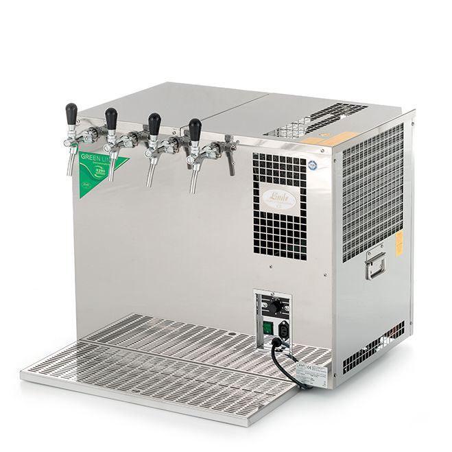 AS-160 Inox Green Line | Tropical beer cooler with 4 taps (CO2)