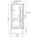 CC 1950 XL (SCH 2000) - Solid door cooler with double doors