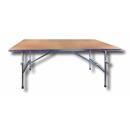 Portable work table with table mat