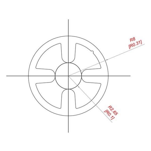 Reinforcement profile in aluminium Ø16 mm