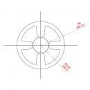 Profil pentru ranforsare sau rigidizare, D16 mm, aluminiu