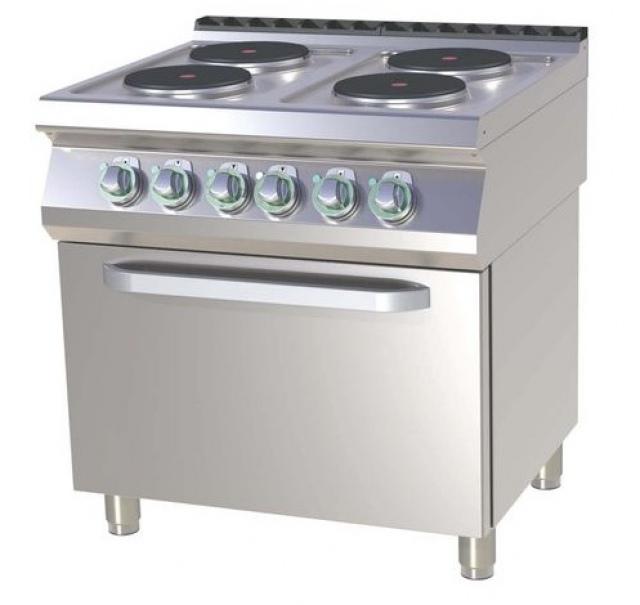 SPT-780-21 E Mașină de gătit electrică cu 4 plite și cuptor