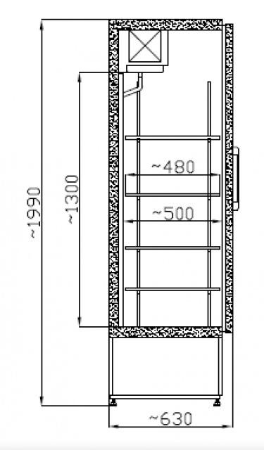 SCH 600 Solid door cooler