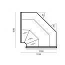 WCH-8/1 Nw 1350 CARMEN | Corner counter plug in (D)