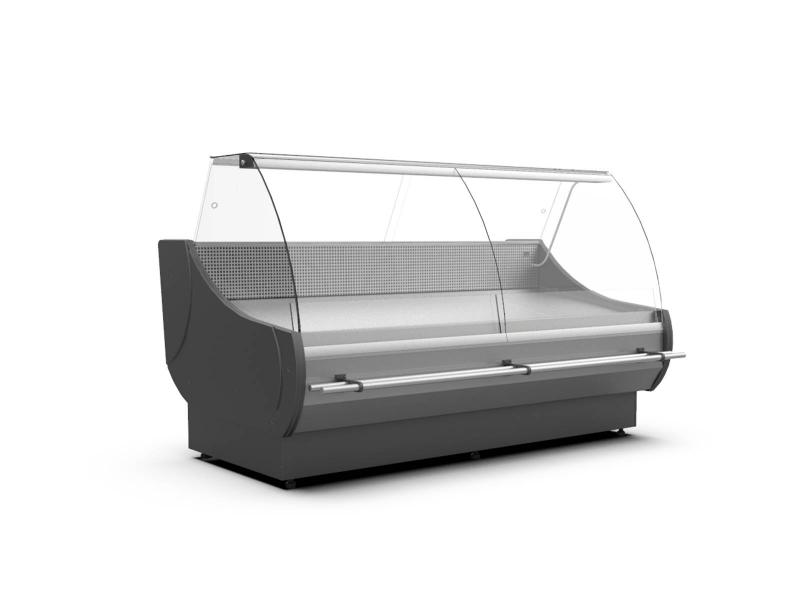 WCH-7 1330 OFELIA | Counter with curved glass with built-in aggr.(S)