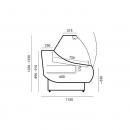 Vitrină frigorifică orizontală cu agregat extern | WCh-7 1.33/1.2 OFELIA