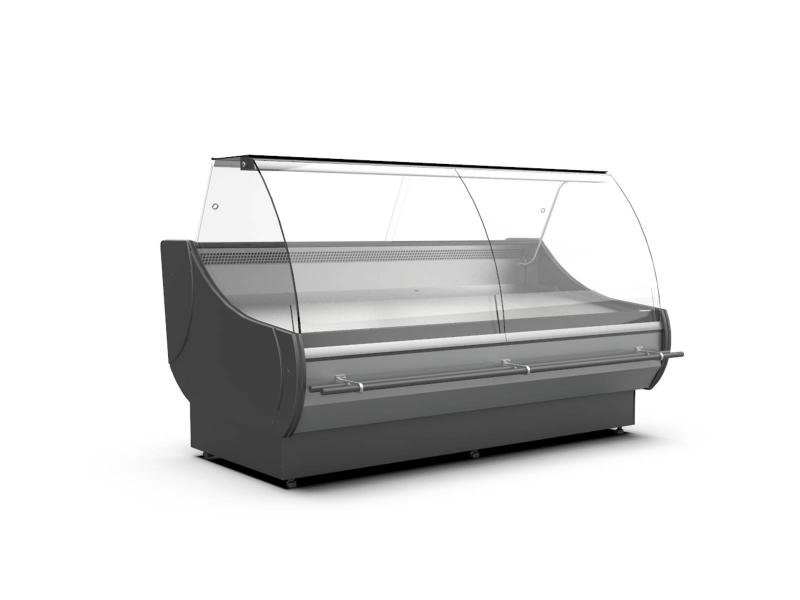WCh-7/1 1.33/1.2 OFELIA - Refrigerated counter with curved glass