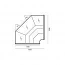 WCH-7/1 Nz 1315 OFELIA | Corner counter plug in (D)