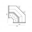 Wch-6/1BNw - Internal corner counter-WEGA