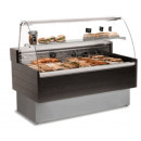 Counter with curved glass with built-in aggr.   KIBUK VC-100