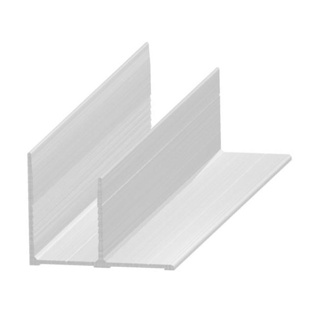 """""""F"""" profile in aluminium 20 mm"""