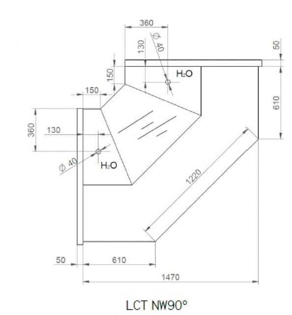LCT Tucana NW - Belső sarokpult 90°