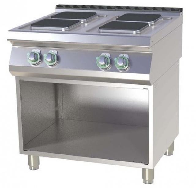 SPQ-780 E Mașină de gătit electrică cu 4 plite pătrate şi suport