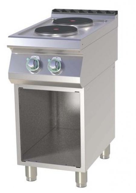 SP-740 E Maşină de gătit electrică cu 2 plite rotunde şi suport