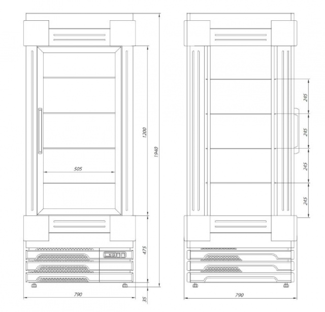 SZ-1 80 BLCH BELLISSIMA - Refrigerated cupboard