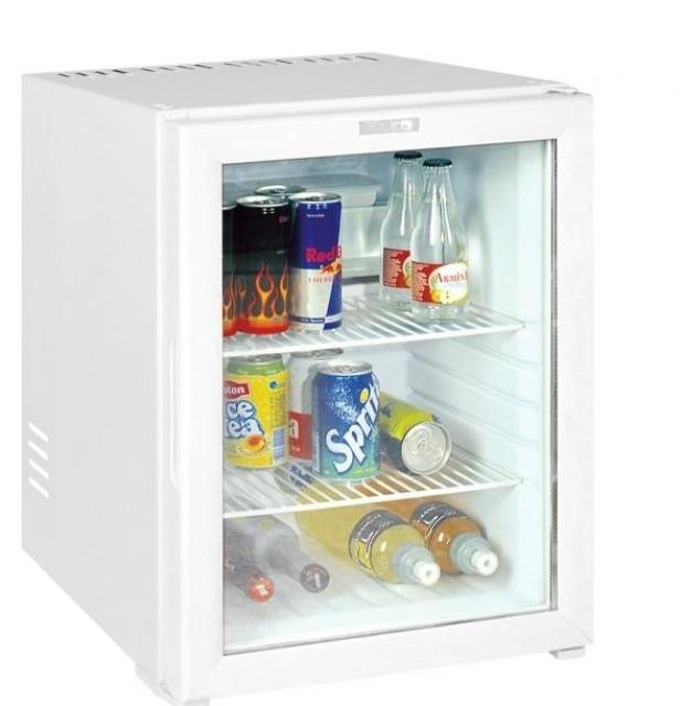 Vitrină frigorifică tip minibar cu sistem de răcire prin absorbție și ușă din sticlă KMB 45 ECO