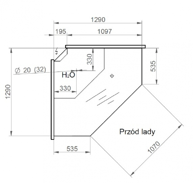 LCD Dorado NZ - Külső sarokpult 90°