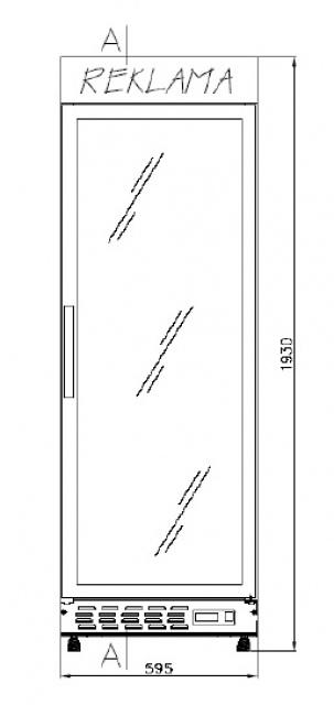 ECO+445 - Glass door cooler with display