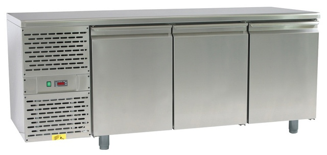 SCH-3 refrigerated work table with granite worktop