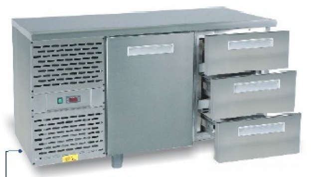 SCH-2 INOX refrigerated work table with granite worktop