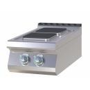 Mașină de gătit electrică cu 2 plite pătrate | SPQ 704 E