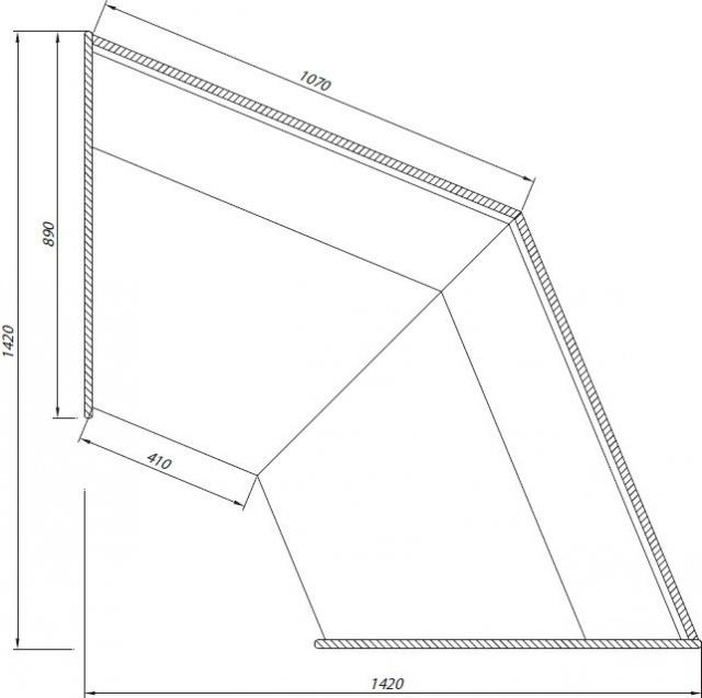 Element de colţ exterior neutru C-1 NZ 45 BLN BELLISSIMA
