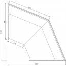 C-1 NZ 45 BLN BELLISSIMA - Neutral external corner counter (45°)
